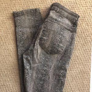 Vanilla Star Jeans - Snake Skin Printed Skinny Jeans